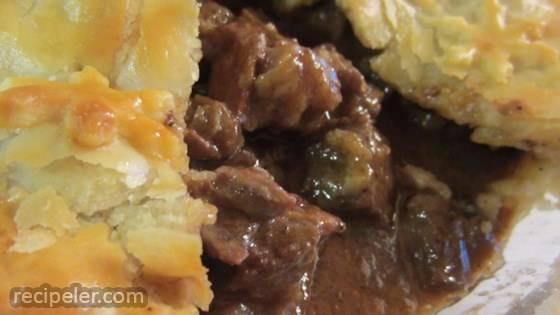 Steak and rish Stout Pie