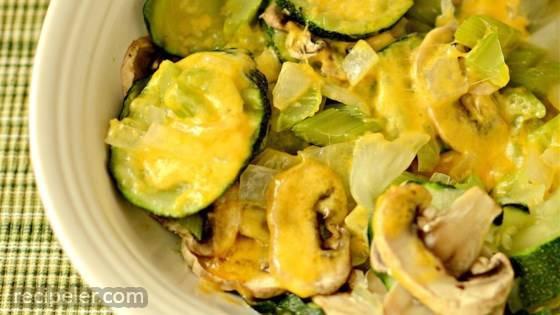 Steamy Microwave Zucchini