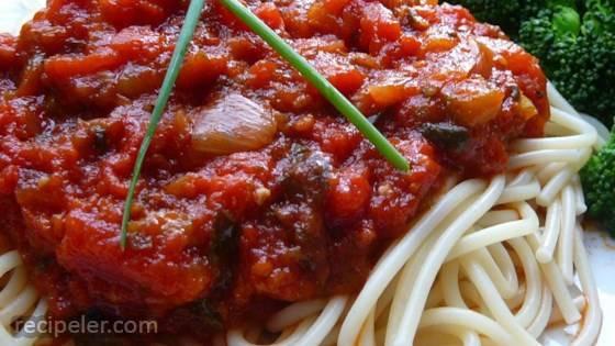 Stephanie's Freezer Spaghetti Sauce