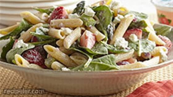 Strawberry-Asparagus Pasta Salad