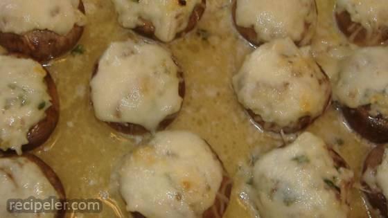 Stuffed Mushrooms with Swiss Cheese