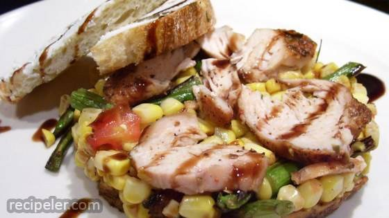 summer corn salad with asparagus