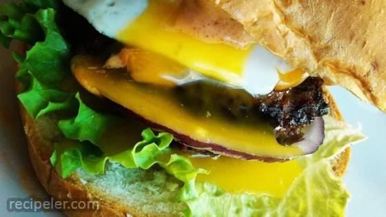 Sunnyside Burger with Chipotle Aioli