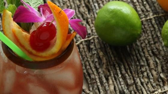sunset rum punch