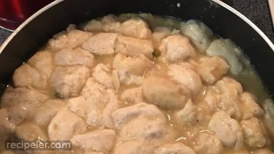 Super Easy Chicken and Dumplings