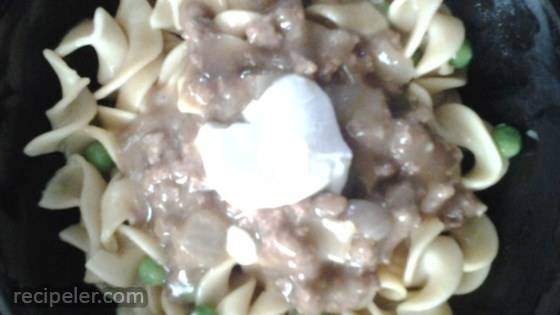Super Easy Ground Beef Stroganoff