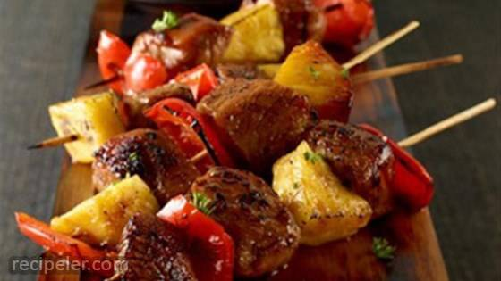 Sweet and Spicy Pork Mini Kabobs
