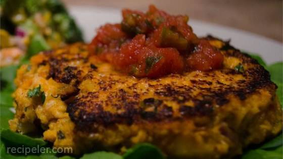 Sweet Potato Salmon Fish Cakes