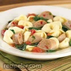 sweet talian chicken sausage and tortellini soup