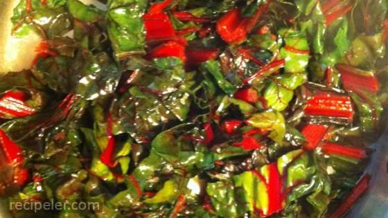 Swiss Chard Sauteed with Lime