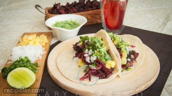 Tacos de Jamaica (Vegan Hibiscus Tacos)