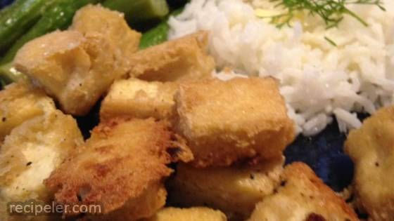 Tahini-Battered Tofu