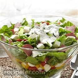 talian Layered Salad with Bison Pepperoni