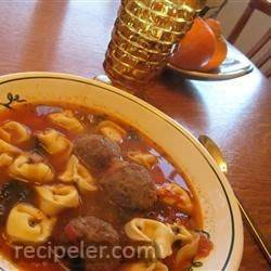 talian meatball and cheese tortellini soup