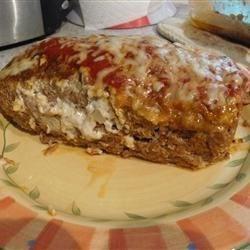 talian mozzarella-stuffed meatloaf