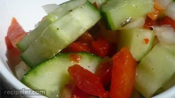 talian Onion Cucumber Salad