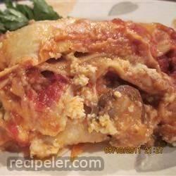 talian Sausage and Mushroom Lasagna with Bechamel Sauce