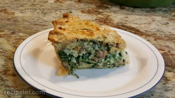 talian Spinach Sausage Pie