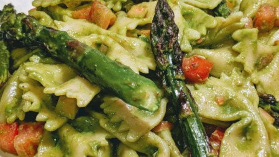 talian vegetable fusilli with basil mint pesto