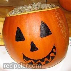 teri's dinner in a pumpkin