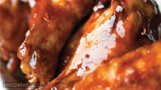 Teriyaki Chicken Wings with Hot Mango Dipping Sauce