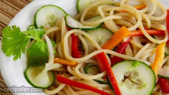 Thai Cucumber Salad with Udon Noodles