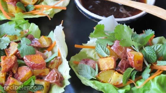 Thai Lettuce Cups with Red Curry Potatoes