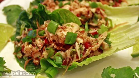 Thai Spicy Tuna Lettuce Wraps