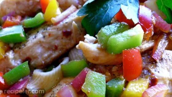 Thai Style Chicken Pasta