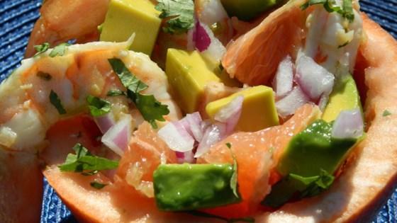 thai-style grapefruit and prawn