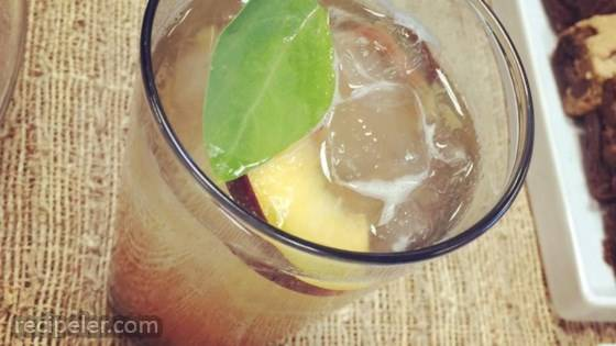 The Deb (Peach-Basil Bourbon Smash) Cocktail