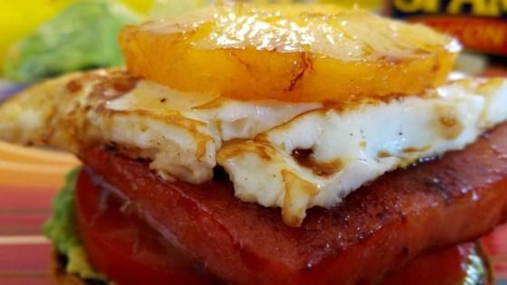 the ultimate open-faced breakfast spam®wch sandwich