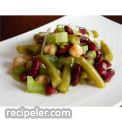 Three Bean Salad With Celery