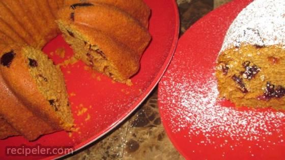 Titi's Cranberry Walnut Pumpkin Bread Cake