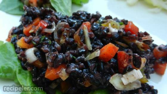 TK's Forbidden Black Rice Salad