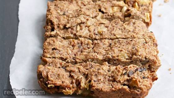 Toasted Oatmeal Apple Breakfast Bars