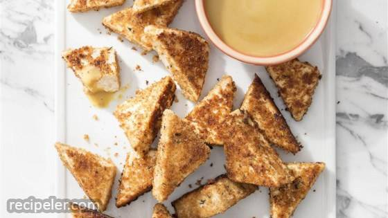 Tofu Nuggets with Maple-Mustard Dipping Sauce