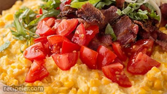 Tomato and Bacon Creamed Corn Casserole