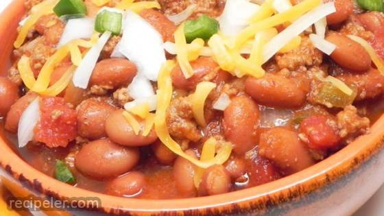 Tray's Spicy Texas Chili