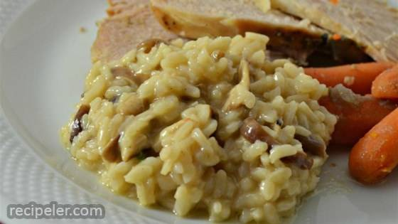 True talian Porcini Mushroom Risotto