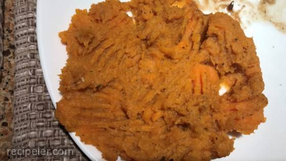 Truffled Mashed Sweet Potatoes