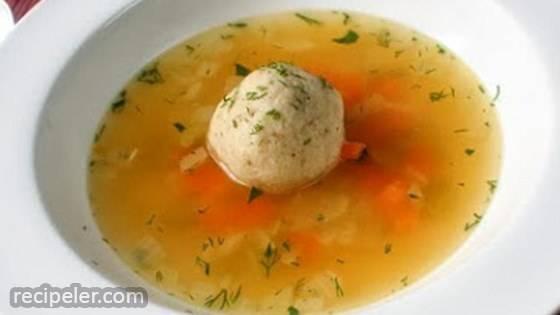Turkey Matzo Ball Soup