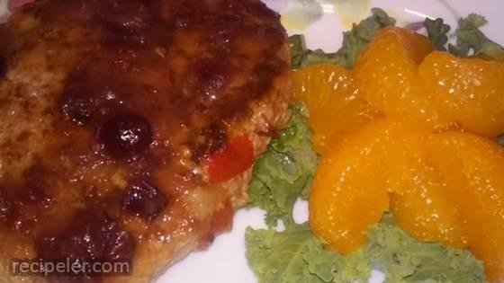 Turkey Salisbury Steak with Cranberry-Orange Gravy