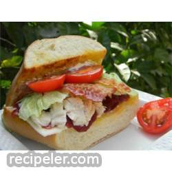 Turkey Sandwiches with Cranberry Sauce