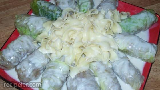 Ukrainian Meat Filled Cabbage Rolls