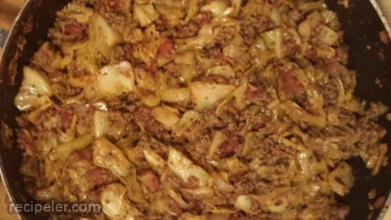 'Unstuffed' Cabbage with a Kick