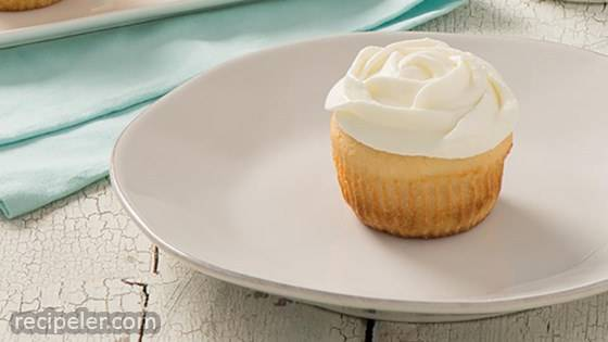 Vanilla Cupcakes with Vanilla Whipped Cream Frosting