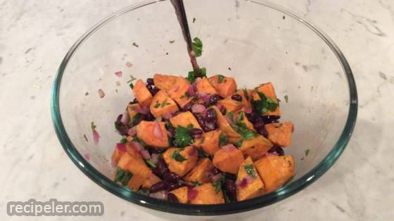 Vegan Black Bean and Sweet Potato Salad