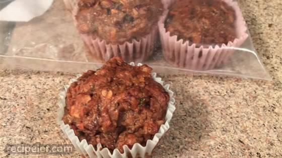 Vegan Date, Walnut, and Zucchini Muffins