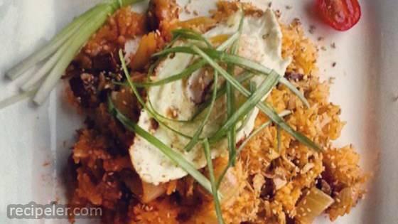 Vegan Korean Kimchi Fried Rice